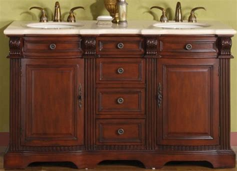 58 Inch Hand Crafted Double Sink Vanity with Marble UVSR019758