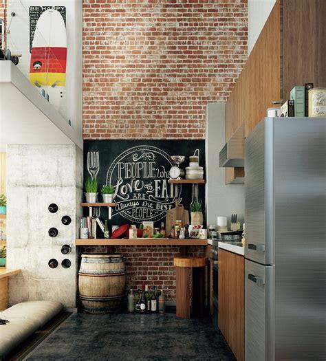 28 Exposed Brick Wall Kitchen Design Ideas  Home Tweaks