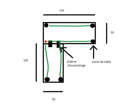 debutant aide pour fabriquer bureau d 39 angle