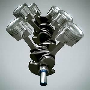 Animated V6 Engine Cylinders 3d Model Animated  Max  Obj