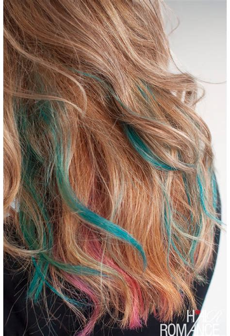 color your hair how to rainbow color your hair for the weekend