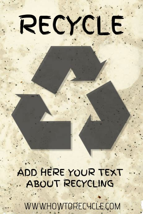 recycling recycle poster template postermywall