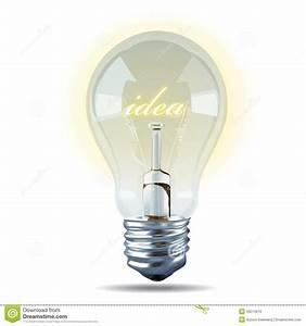 Vector Of Bulb Light Idea On White Background. Stock ...