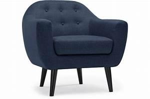 Fauteuil Bleu Scandinave : fauteuil scandinave tissu bleu antonio design sur sofactory ~ Teatrodelosmanantiales.com Idées de Décoration