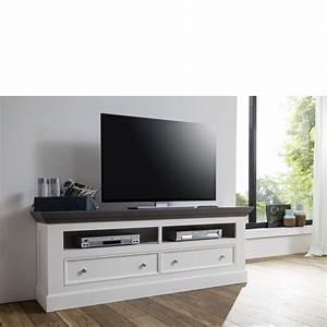 Hänge Tv Schrank : tv lowboard aus paulowniaholz landhausstil wei m bel ~ Michelbontemps.com Haus und Dekorationen