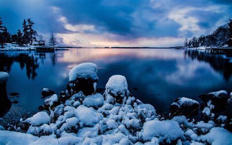 Winter & Lake Sweden Stockholm Wallpapers  Winter & Lake