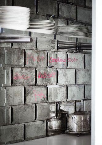 mercury glass tiles up of the mercury glass backsplash desire to
