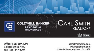 coldwell banker business cards  business cards