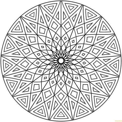 hard geometric designs coloring page  coloring pages