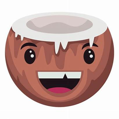 Coconut Character Silly Transparent Svg Vexels