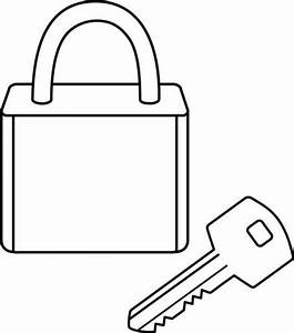 key and lock coloring picture