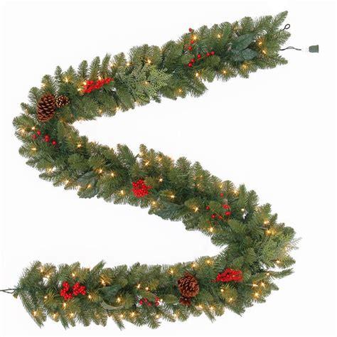 martha stewart living christmas lights martha stewart living 9 ft winslow artificial garland