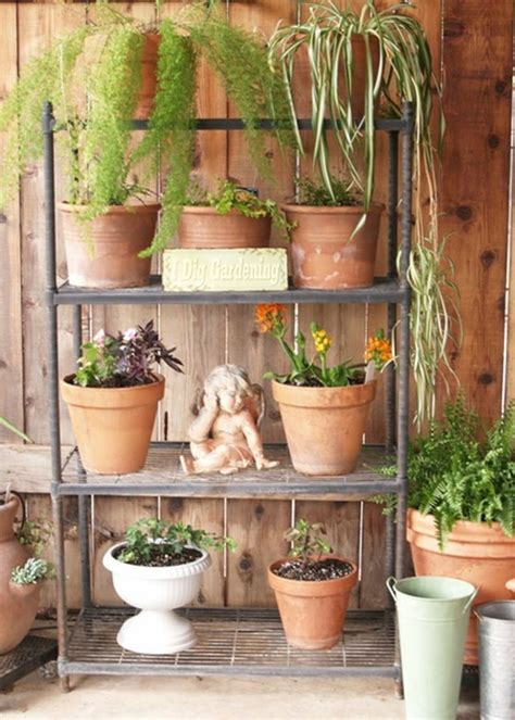 outdoor plant stand for the home