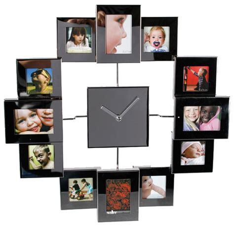 horloge cadre photo avec effet miroir