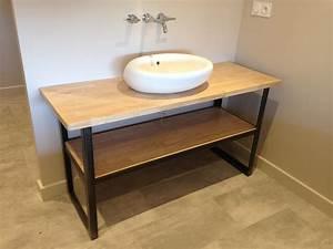 mobilier design acier lyon mobilier metal villefranche With meuble salle de bain acier
