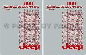 1981 Jeep Repair Shop Manual Reprint