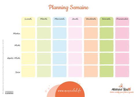 8 plannings repas à la semaine à imprimer en pdf. Tableaux éducatifs pour l'organisation de la semaine ...