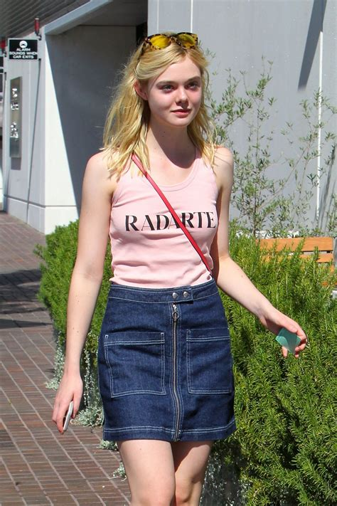 Elle Fanning - Out in Toluca Lake, October 2015 • CelebMafia