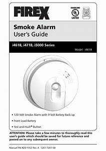 Firex I4618 Series User Manual Pdf Download