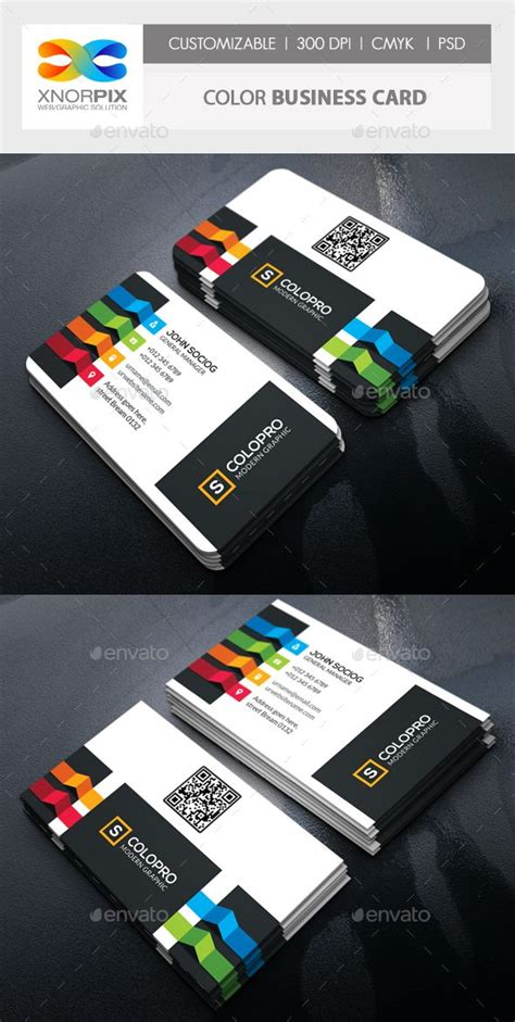 color business card template psd   http