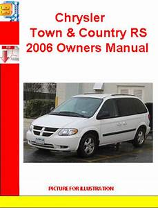 Chrysler Town  U0026 Country Rs 2006 Owners Manual