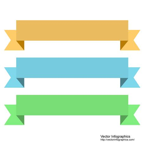 pallid simple ribbons free vector image 10
