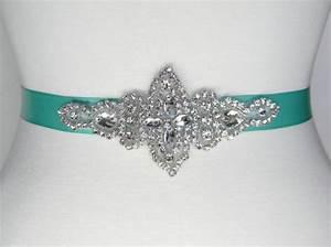 bridal belt wedding belt aqua bridal sash flower girl dress With tiffany blue wedding dress sash