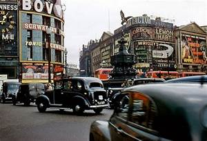 Wonderful Color Photographs of Piccadilly Circus, London in the 1950s ~ Vintage Everyday