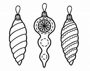 Disegno di Decorazioni Natalizie albero di Natale da Colorare Acolore