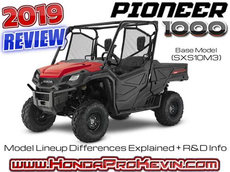 2019 Honda Pioneer 1000 Review  Specs  R&d Info