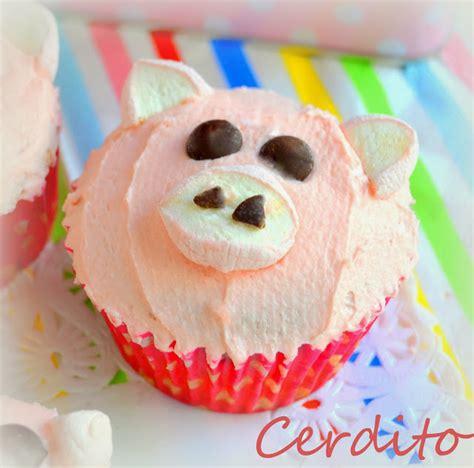 cup cakes decoradas de animalitos gallinas cerditos