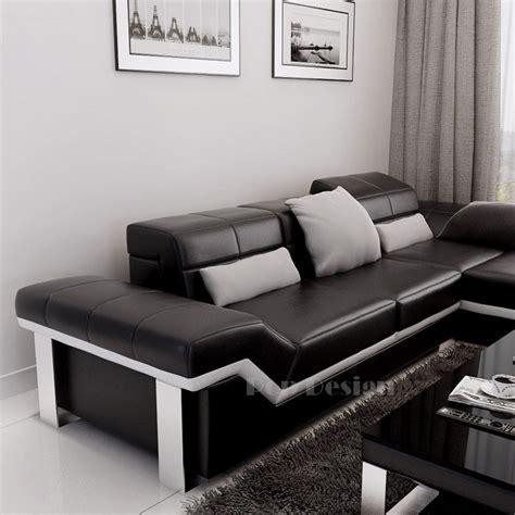 canape d angle luxe canapé d 39 angle design en cuir torino pouf pop design fr