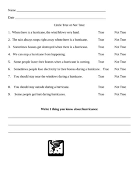 hurricane true false worksheet by deborah maldonado tpt