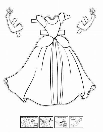 Cinderella Princess Coloring Pages Princesses Disney Doll