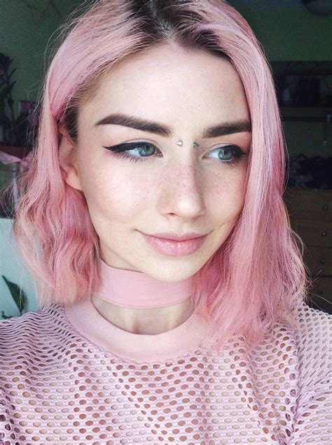 Dye Hair by 35 Edgy Hair Color Ideas To Try Right Now Pink Aesthetic