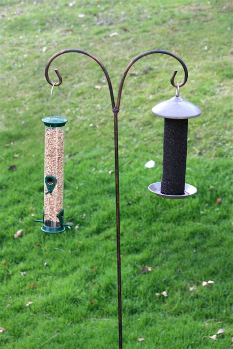 bird feeder pole bird seed backwoods maple