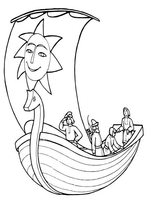 sail coloring pages    print