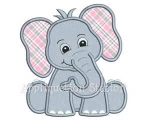 baby design zoo baby elephant applique machine embroidery design jungle