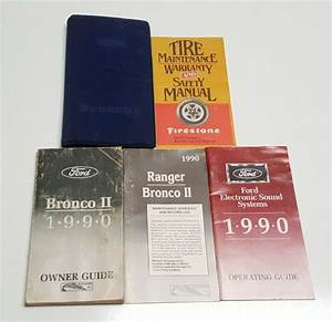 1990 Ford Bronco Ii Owners Manual Guide V6 2 8 2 9 Xlt