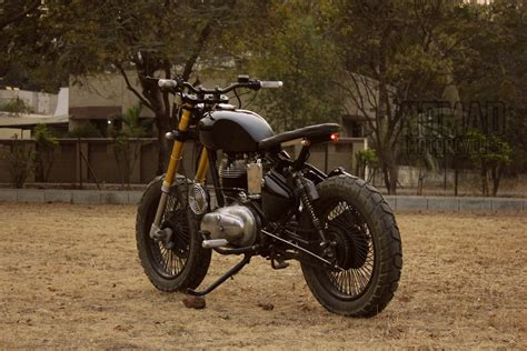Modified Royal Enfield Scrambler