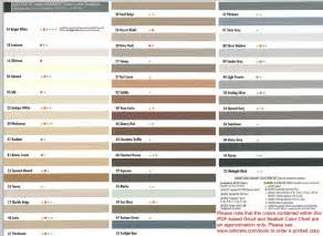 custom building products grout chart images
