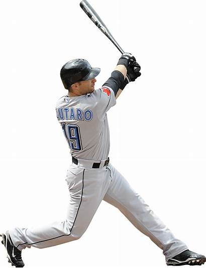 Baseball Player Hit Transparent Players Bat Ball