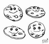 Vector Cartoon Fudge Desserts Chocolate Donuts Kawaii Cookies Outline Drawing Pastries Strawberry Depositphotos sketch template