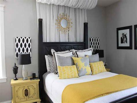 yellow  gray bedroom decorating ideas decor