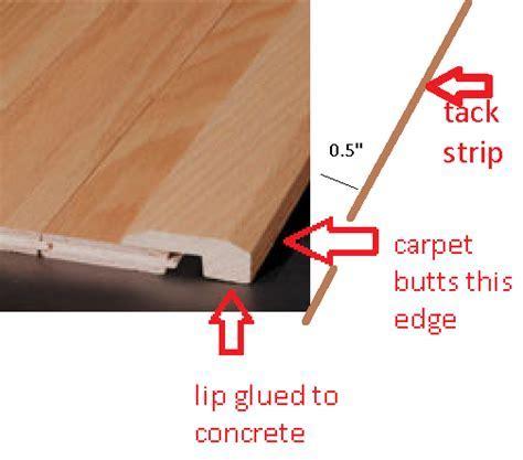 Installing transitions against carpet   DoItYourself.com