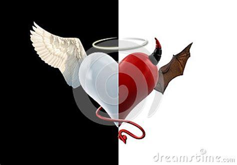 angel devil heart stock photo image