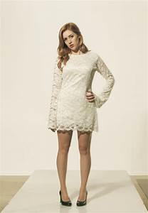 white lace 196039s dress wedding dress mod 2214136 weddbook With 60 s mod style wedding dress