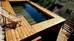 Grande Piscine Hors Sol : infos sur piscine bois hors sol grande dimension ~ Premium-room.com Idées de Décoration