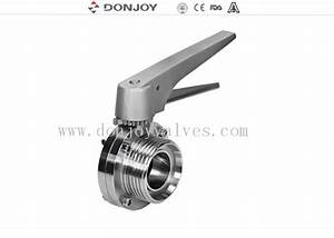 Manual Thread Sanitary Butterfly Valve With Stainless