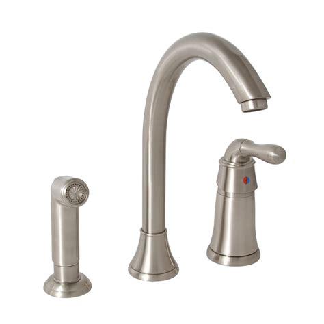 Shoo Sink Faucet by Shop Premier Faucet Sanibel Brushed Nickel 1 Handle High